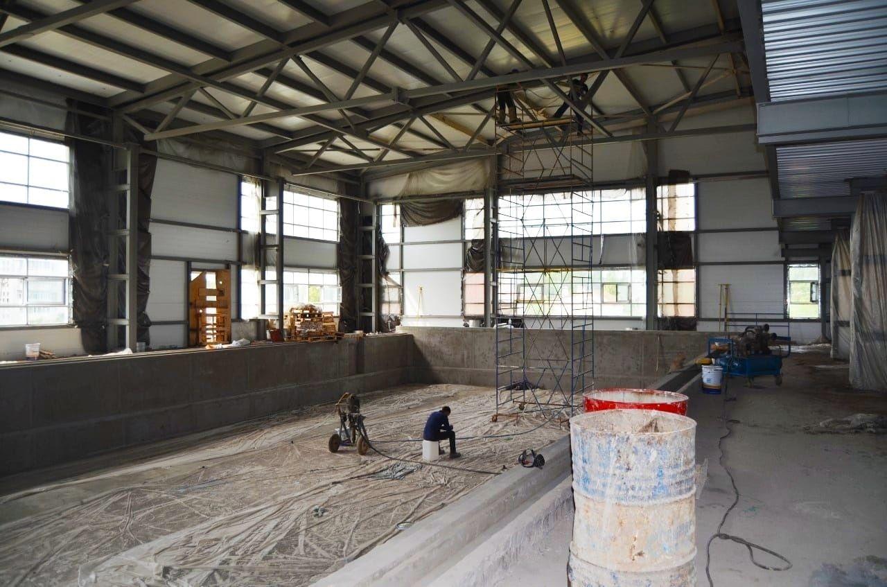К ноябрю в поселке Приволжский достроят физкультурно-оздоровительный комплекс