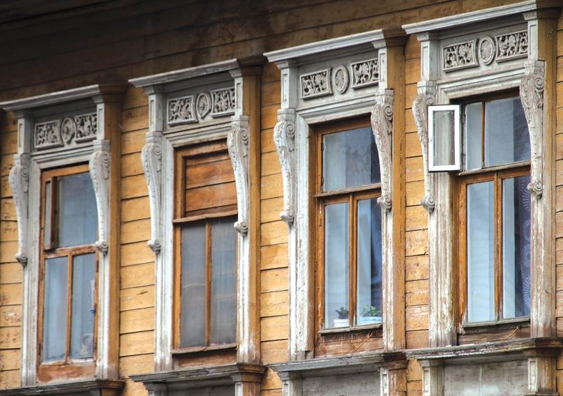 Наличники на доме Хохрякова.