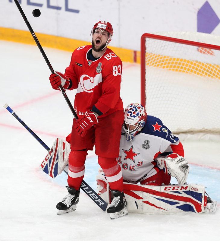 «Спартак» в четвертый раз уступил ЦСКА и проиграл серию первого раунда плей-офф КХЛ (Видео)