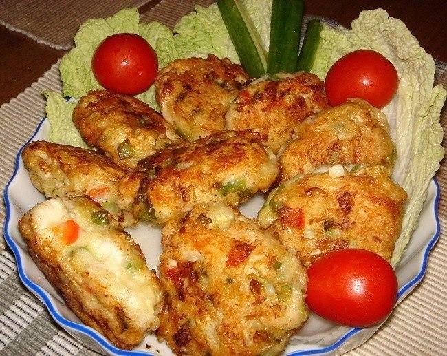 🍴Рецепт очень вкусных и полезных котлет из куриного мяса с овощами и сыром!, изображение №4