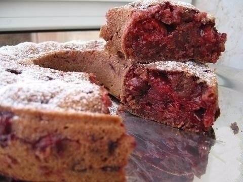 🍴 Постный вишнево-шоколадный кекс, изображение №4