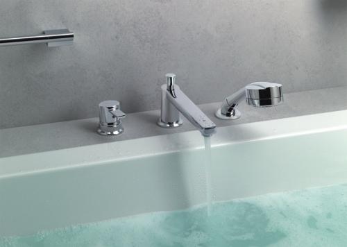 Смесители на борт ванны: особенности приборов и их установки, изображение №2