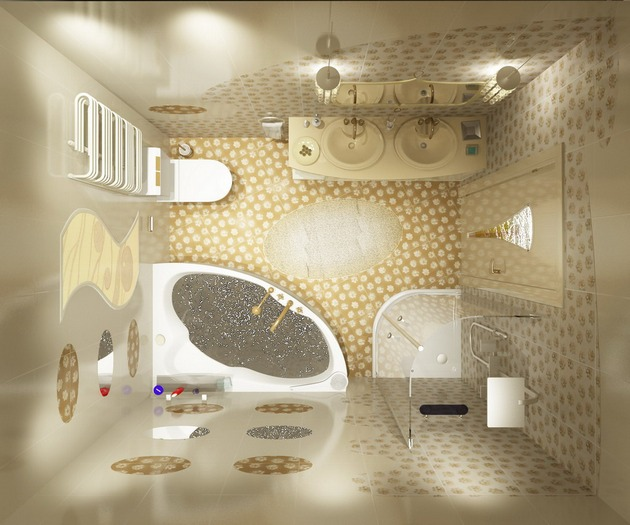 Комплексный ремонт в ванной комнате, изображение №2