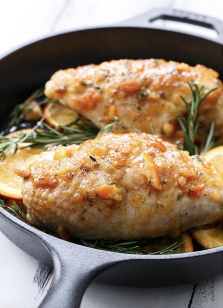 Жареные куриные грудки с апельсиновым мармеладом, изображение №4