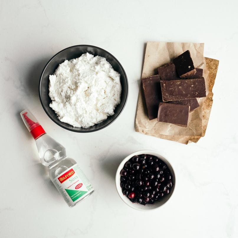 Диетические корзиночки с шоколадом, творогом и смородиной, изображение №2